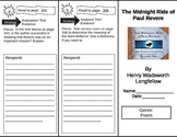Reading Street 5th Grade The Midnight Ride of Paul Revere Trifold