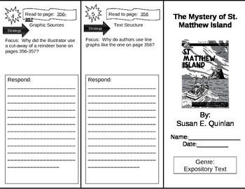 Reading Street 5th Grade The Mystery of Saint Matthew Island Trifold