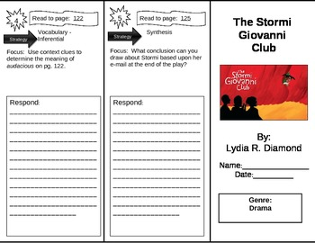 Reading Street 5th Grade The Stormi Giovanni Club Trifold