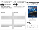 Reading Street 5th Grade The Unsinkable Wreck of the R.M.S. Titanic Trifold