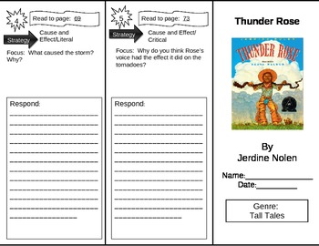 Reading Street 5th Grade Thunder Rose Trifold