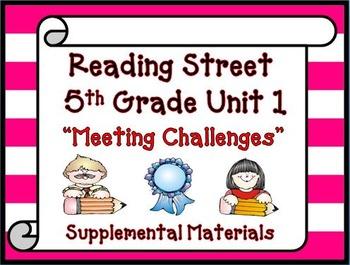 Reading Street 5th Grade Unit 1 2008 version of Supplemental Materials