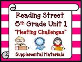 Reading Street 5th Grade Unit 1 Printables | 2008
