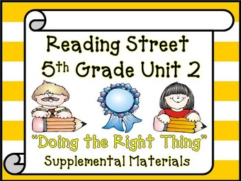Reading Street 5th Grade Unit 2 Supplemental Materials