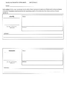 Reading Street 5th Grade Unit 2 Vocabulary Packets