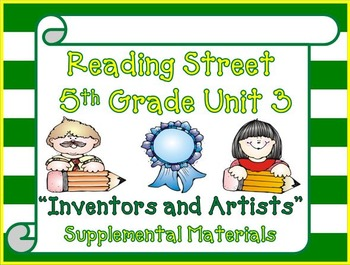 Reading Street 5th Grade Unit 3 Supplemental Activities 2013