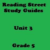 Reading Street 5th Grade Unit 3 Reading Study Guide Bundle