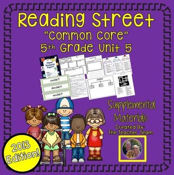 Reading Street 5th Grade Unit 5 Common Core 2013 Supplemental Materials