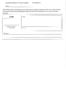 Reading Street 5th Grade Unit 5 Vocabulary Packets