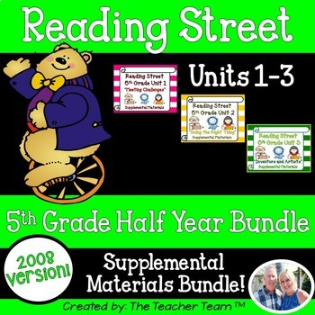 Reading Street 5th Grade Units 1-2-3 Bundle Supplemental M