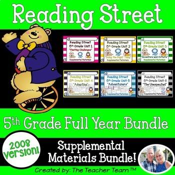 Reading Street 5th Grade Units 1-6 Full Year 2008 Supplemental Materials Bundle