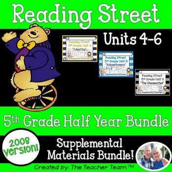 Reading Street 5th Grade Units 4-5-6 2008 Supplemental Materials Bundle