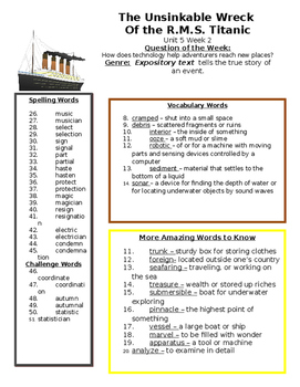 Reading Street 5th grade Unit 5 Study Guide Bundle centers group work