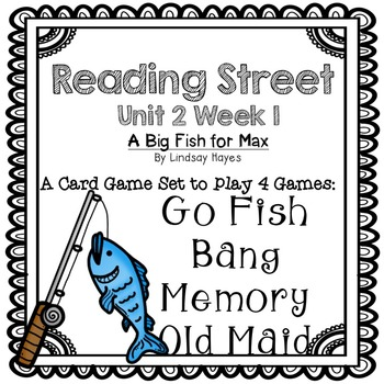 Reading Street: A Big Fish for Max! 4-in-1 Spelling and HFW Games