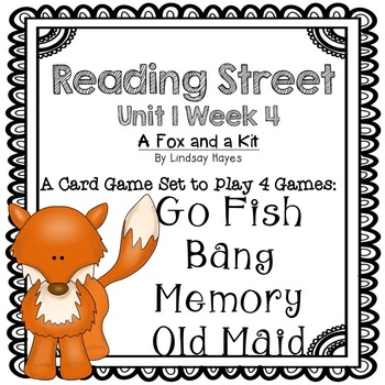 Reading Street: A Fox and a Kit 4-in-1 Spelling and HFW Games