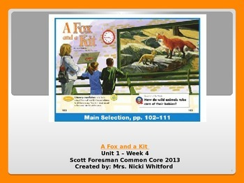 "Reading Street ""A Fox and a Kit"" Weekly PowerPoint"