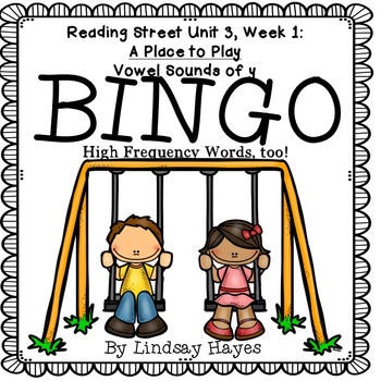 Reading Street: A Place to Play BINGO Vowel Sounds of y