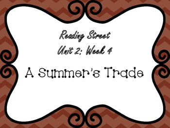 Reading Street: A Summer's Trade Posters & Activities