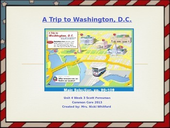 """Reading Street """"A Trip to DC"""" Weekly PowerPoint"""