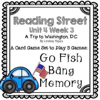 Reading Street: A Trip to Washington, D.C.  3-in-1 Spelling and HFW Games