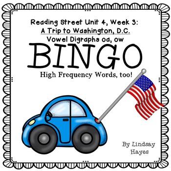 Reading Street: A Trip to Washington, D.C. BINGO Vowel Dig