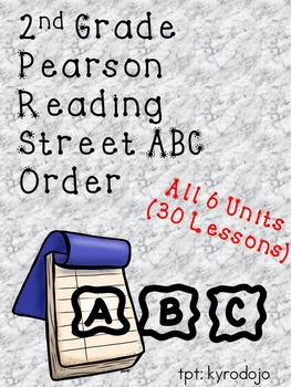 Pearson Reading Street ABC Order 2nd
