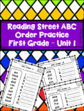 Reading Street ABC Order Practice - 1st Grade Unit 1