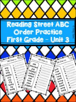 Reading Street First Grade ABC Order Practice - Unit 3