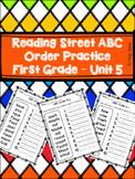 Reading Street ABC Order - Unit 5 Spelling Words