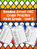 Reading Street First Grade ABC Order - Unit 5