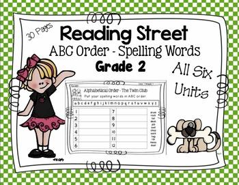 ABC Order for Each Story - Reading Street Scott Foresman Grade 2