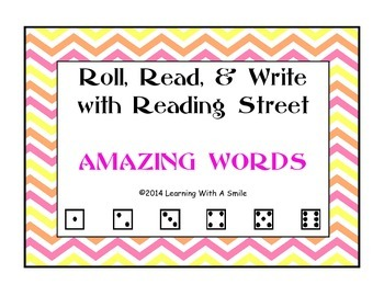 Reading Street FIRST GRADE AMAZING WORDS Game:  Word Work Activity