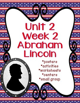 Reading Street Abraham Lincoln with no prep center with editable center cover