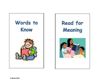 CCR Reading Street Aligned - Center Chart Signs