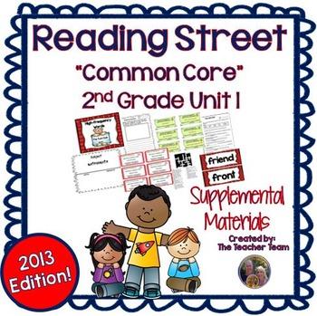 Reading Street 2nd Grade Unit 1 Supplemental Materials 2013