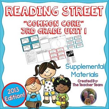 Reading Street 3rd Grade Unit 1 Supplemental Materials 2013