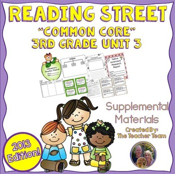 Reading Street 3rd Grade Unit 3 Supplemental Materials Common Core 2013