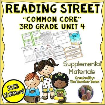 Reading Street 3rd Grade Unit 4 Supplemental Materials Common Core 2013