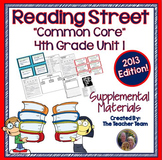 Reading Street 4th Grade Unit 1 Supplemental Materials Common Core 2013