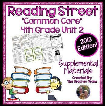 Reading Street 4th Grade Unit 2 Supplemental Materials Common Core 2013