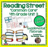 Reading Street 4th Grade Unit 3 Common Core 2013 Supplemental Materials