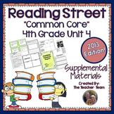 Reading Street 4th Grade Unit 4 Supplemental Materials Common Core 2013