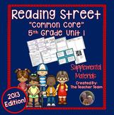 Reading Street 5th Grade Unit 1 Printables | 2013