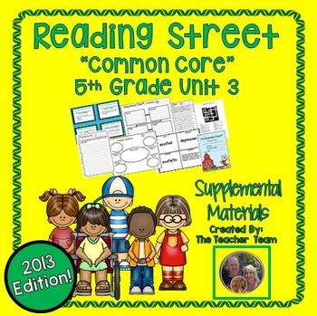 Reading Street 5th Grade Unit 3 Supplemental Materials 2013