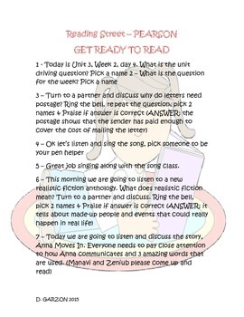 Reading Street Aligned - Scripted Lesson for a Student Cen