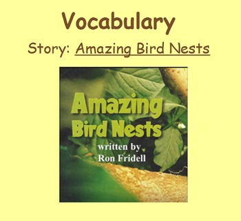 3rd Grade, Reading Street, Amazing Bird Nests Vocabulary SmartBoard Presentation