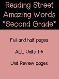 Reading Street Amazing Words- 2nd Grade