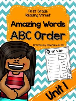 Reading Street Amazing Words ABC Order UNIT 1