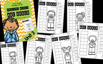 Reading Street Amazing Words ABC Order UNITS 1-5 BUNDLE