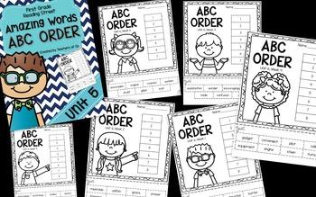 Reading Street Amazing Words ABC Order UNITS 1-5 BUNDLE